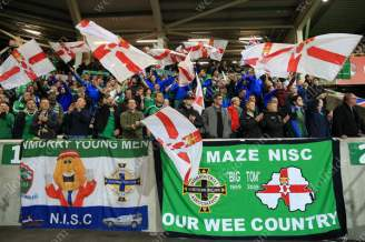 Northern Ireland fans make as much noise as they can